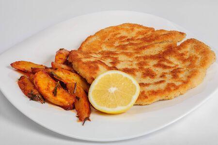 pork chop: Fried pork chop with potato