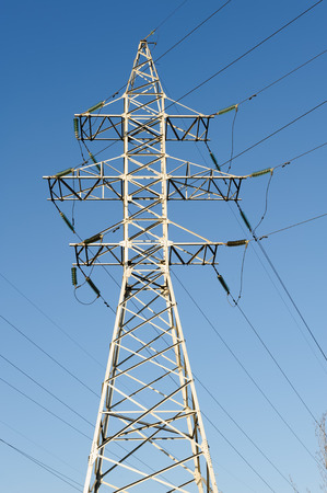 power line tower: high voltage power lines