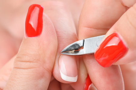 cuticle: manicure applying - cutting the cuticle
