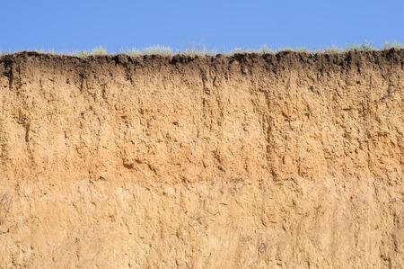 Gelaagde snit van de bodem