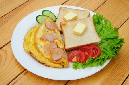 an omelette: country omelette Stock Photo