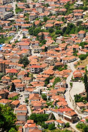 kalambaka: Town of Kalambaka view from Meteora rocks, Greece