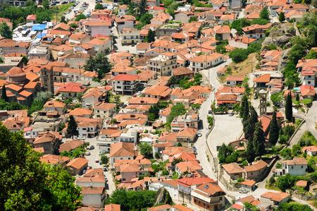 kalambaka: Kalambaka town view from Meteora rocks, Greece