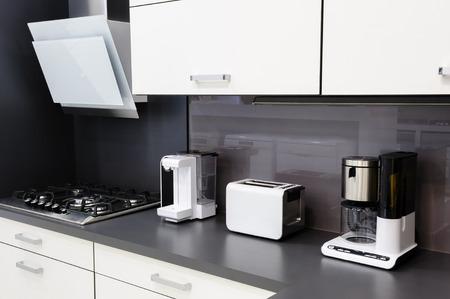Modern kitchen, clean interior design