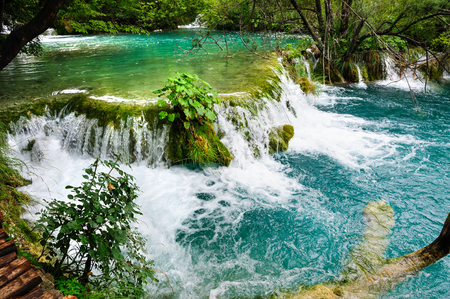 plitvice: Beautiful waterfalls in Plitvice Lakes, National Park of Croatia