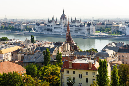 buda: Budapest, view from Buda side to Pest side, parliament on other bank of Danube