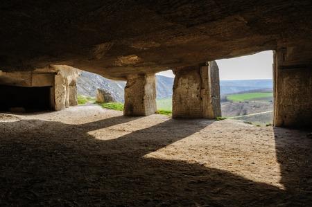 Abandoned limestone mines in Old Orhei, Moldova