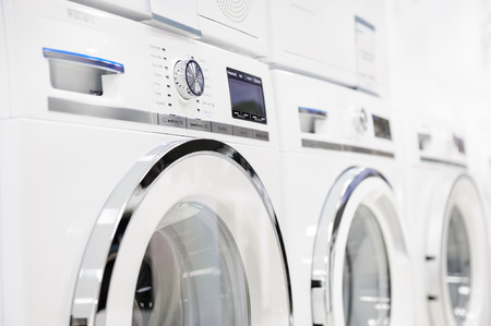 Washing machines, dryer and other domestic appliance equipment in the store