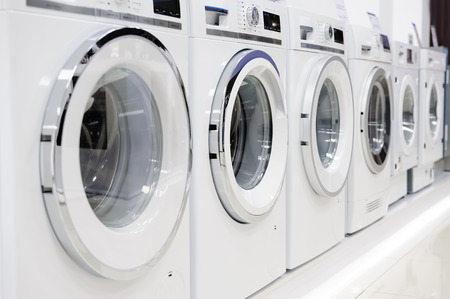 machine: Washing machines, dryer and other domestic appliance equipment in the store