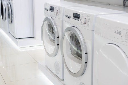 large store: laudry dryers, washing machines and other domestic appliance equipment in the store