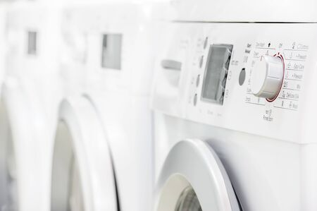 drying: Washing machines, dryer and other domestic appliance equipment in the store