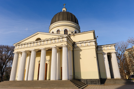 neoclassic: Orthodox Christian Nativity Cathedral in center of Chisinau, main church of Moldova