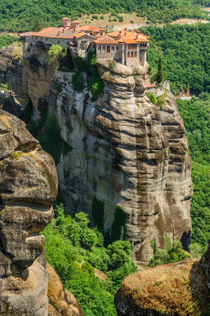 monastery: The holly monastery of Varlaam on the top of rock, Meteora, Greece