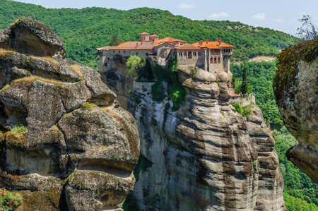 kalampaka: The holly monastery of Varlaam on the top of rock, Meteora, Greece