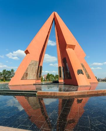 seconda guerra mondiale: Memorial in onore della vittoria nella Seconda Guerra Mondiale. Chisinau, Moldova. Archivio Fotografico