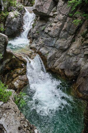 olympus: Waterfall in Olympus Mountains, highest in Greece
