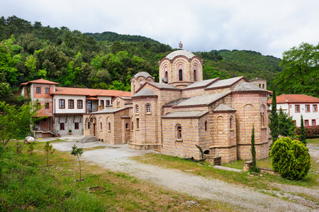 righteous: Monastery St. Dionysios the Righteous of Olympus, near Olymp mountains in Greece, main church