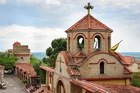 olympus: Monastery of Saint Ephrem the Syrian near Olympus mountains in Greece, main gates