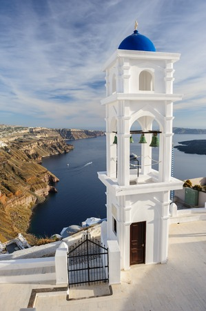 firostefani: Church in Firostefani, Santorini Stock Photo