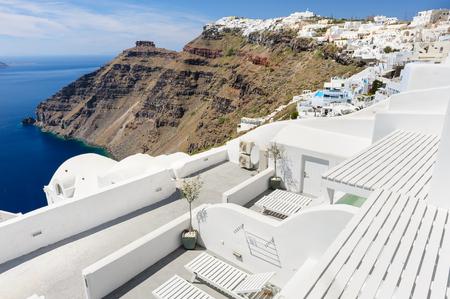 firostefani: View of Firostefani, Santorini Stock Photo