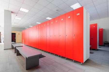 Interior of gym locker room