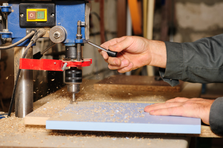 milling cutter machine Stock Photo