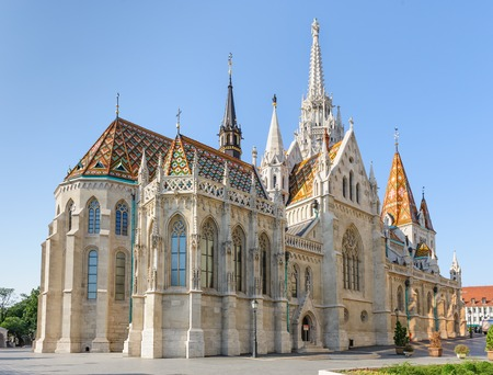 St Mathias Church in Budapest 版權商用圖片 - 117144083