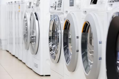 washing mashines in appliance store Reklamní fotografie