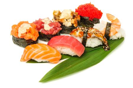 Sushi set of rolls isolated on white Stock Photo - 120791639