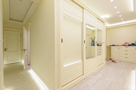 Luxury modern beige hallway
