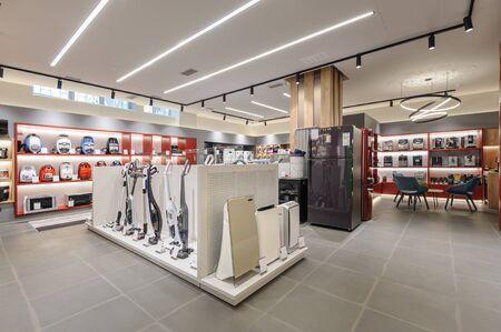 Interior de tienda de electrodomésticos premium Foto de archivo