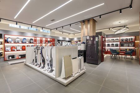 Premium home appliance store interior