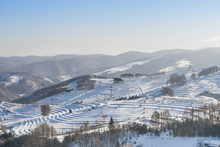 The snow hill scenery Stock fotó