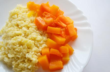 porridge: Millet porridge with pumpkin