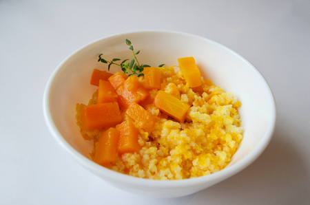 Millet porridge with pumpkin