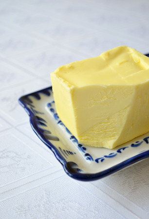 Butter on the table Stock Photo