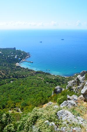 Crimea, rocks, view of the Black sea