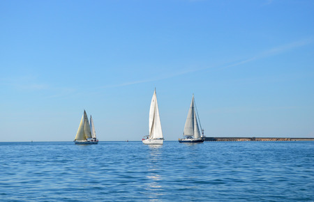 Sailing boats on the sea
