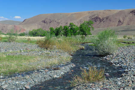 the deposits: Color soil of mercury deposits in Altai in Chagan-Ouzun place