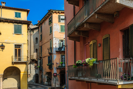 places of interest: Street views and places of interest in Verona and Soave in summer Stock Photo