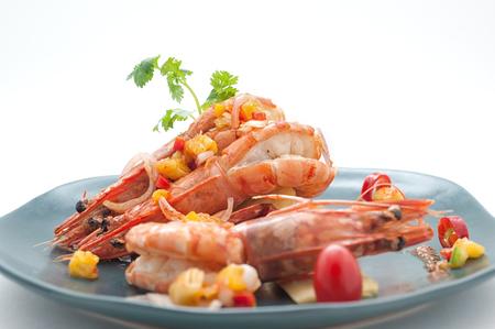 Gerechten van Thailand en China internationale gerechten op wit wordt geïsoleerd Stockfoto