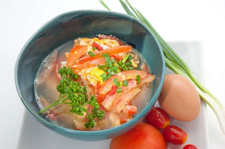 china cuisine: Dishes of Thailand and China international cuisine studio shot