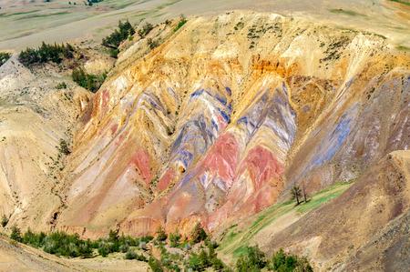 キジルあご近くアルタイ草原における水銀発生の多色の土壌