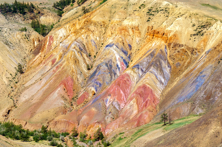 occurrence: Multicolor soil of mercury occurence in Altai steppe near Kyzyl-Chin