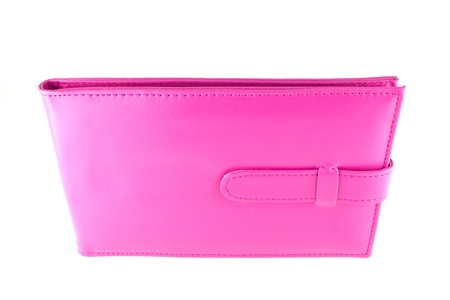 Pink bank book holder, Pink leather bag Stock Photo - 10711574