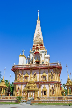 national trust: Beautiful Pagoda in Thai temple, Wat Chalong, Phuket, Thailand