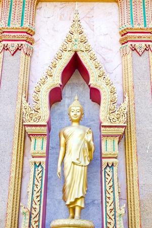 chalong: golden buddha in Wat Chalong, Phuket, Thailand