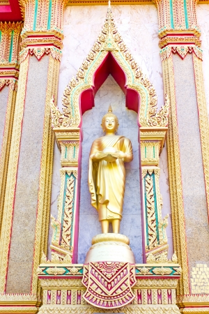 phuket province: golden buddha in Wat Chalong, Phuket, Thailand