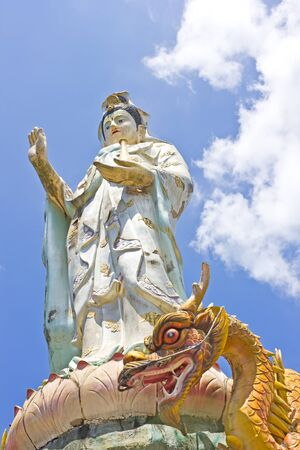 Kuan Yin statue at Wat BangRiang, south of Thailand photo