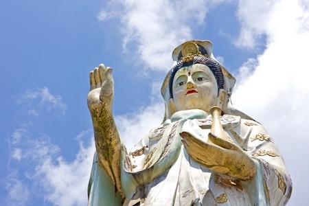Kuan Yin statue at Wat BangRiang, south of Thailand photo